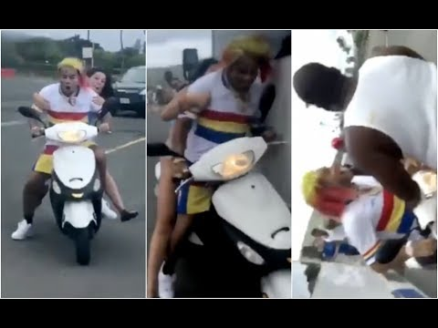 6ix9ine Crashes Moped In Hawaii Cuban Doll Pissed