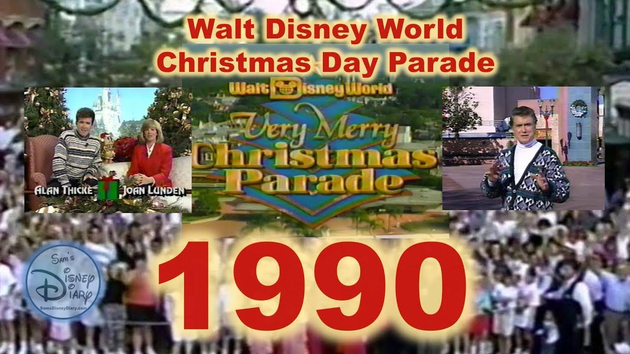 Disney Christmas Day Parade 2020 1990 Walt Disney World Christmas Day Parade   YouTube