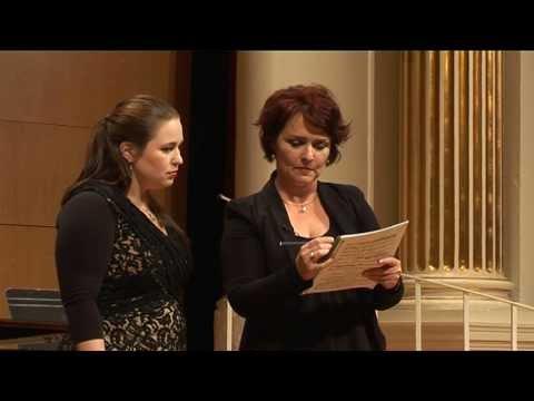 2013: Hannah Dahlenburg, soprano. MasterClass with Emma Matthews and David Harper