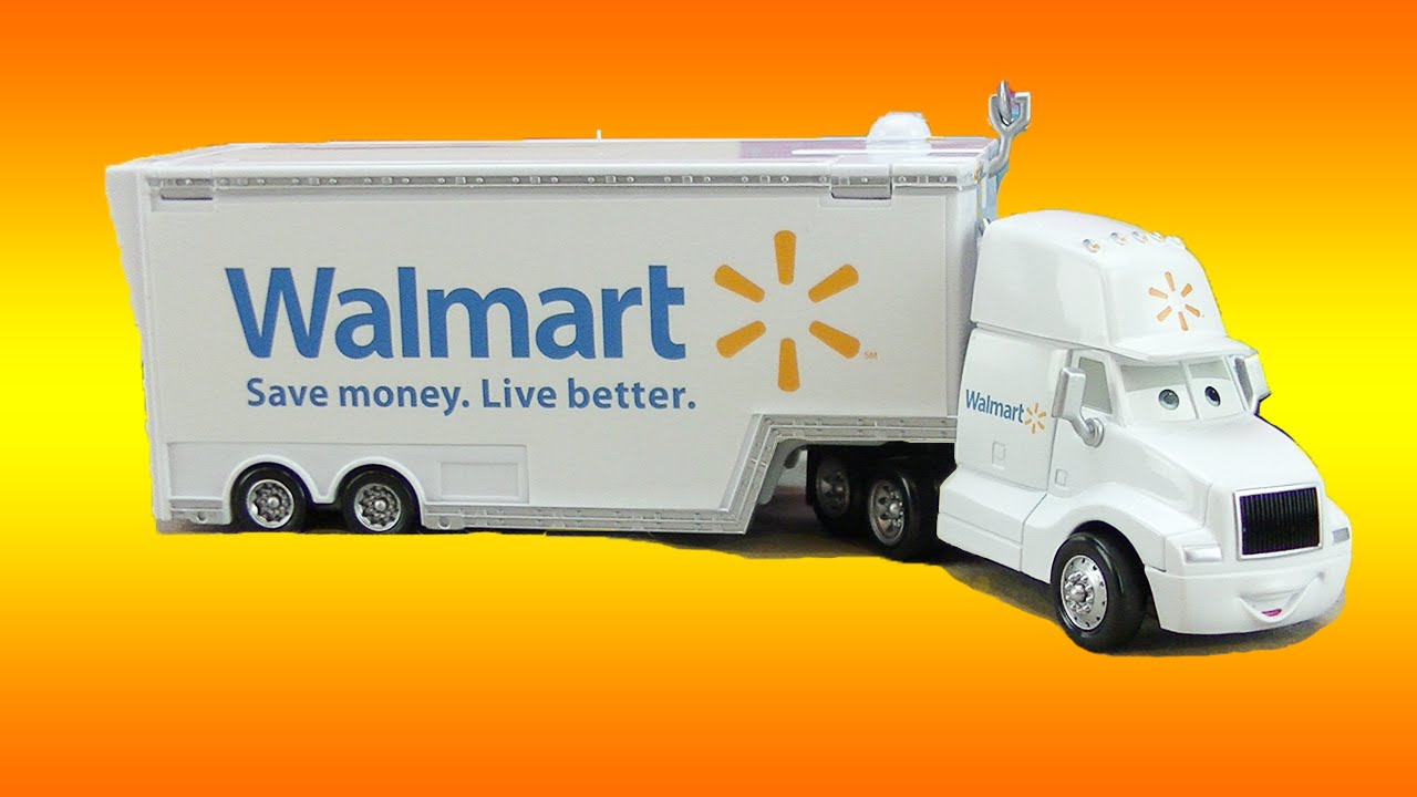 Toy Cars At Walmart : Disney cars toys wally hauler walmart truck l lightning