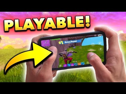 OMG! Fortnite Mobile is *PLAYABLE* Now! (Better Controls in NEW Update)