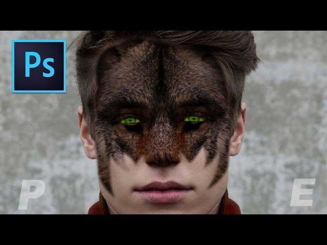 Adobe Photoshop Tutorial Face Wolf Effect