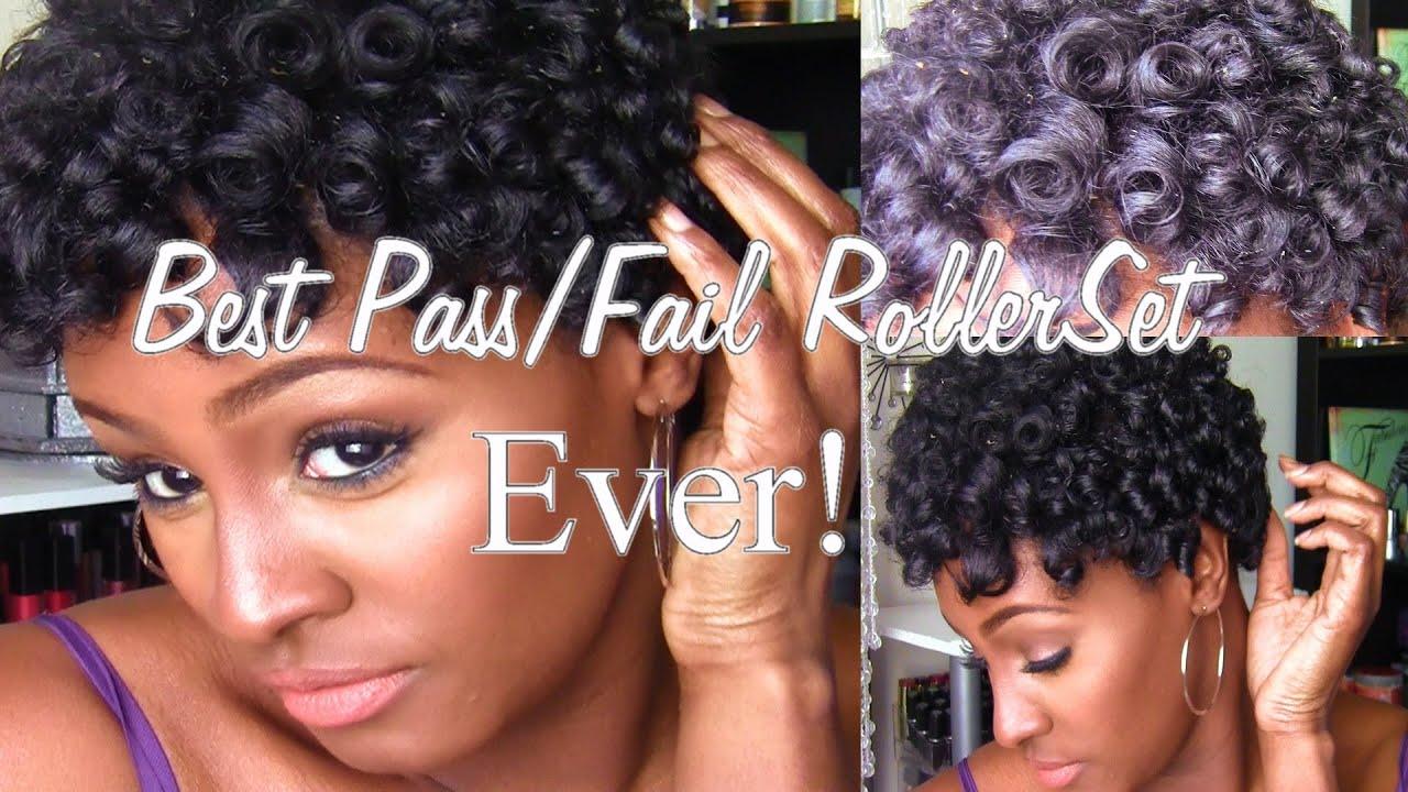 Best PassFail RollerRod Set EVER 4B Natural Hair TWA