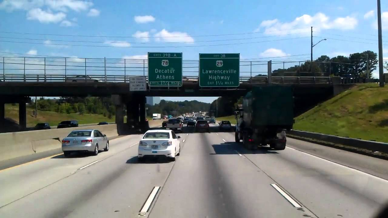 Interstate Loop 285 At Interstate 85 On The Northside Of Atlanta