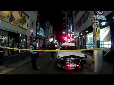 福岡市・繁華街で殺人事件、2時間後も規制線取れず