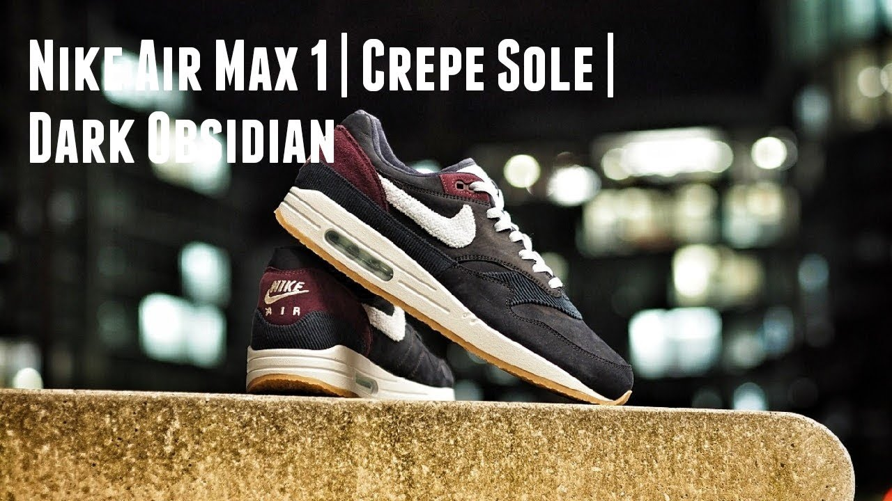 new arrival d8c6b af9dc The Blessing   the Curse  Nike Air Max 1 Premium Crepe Sole Dark Obsidian   Review   On Feet