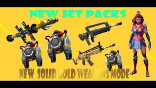 XBOX ONE Fortnite Battle Royale Update. Jet Packs and Solid Gold Weapons Mode.