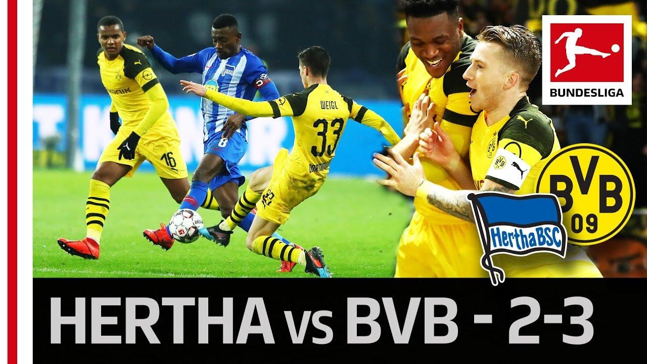 Download Hertha Berlin vs. Borussia Dortmund I 2-3 I Reus' Last-Minute Goal Secures BVB Comeback