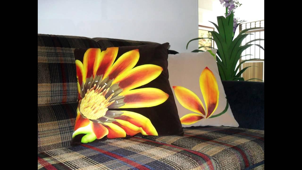 Pirograbado en tela naturaleza viva youtube - Cojines pintados en tela ...