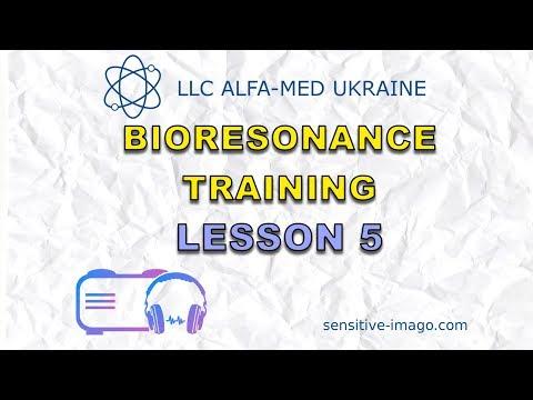 Sensitiv Imago bioresonance diagnostics, testing, therapy device. Training lesson 5