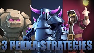 Gowipe W/ 8 Earthquake | 3 Ways To PEKKA TH9 Strategy | Clash Of Clans