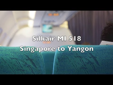(HD) Silkair Airbus A320 Economy Class Flight Report: MI 518 Singapore to Yangon, Myanmar