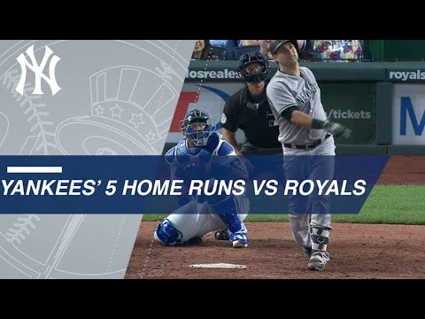 NYY@KC: Yankees homer 5 times in win over Royals