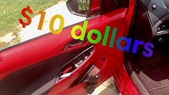 How to get red interior in any car for only $10 bucks