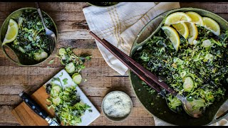 "How To Make Kale & Brussels Sprout Salad: A ""crazy-delicious"" Recipe"