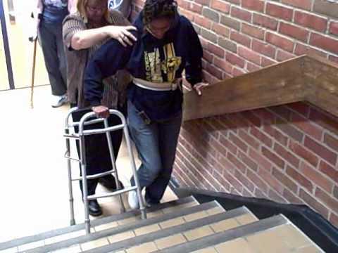 Regular Walker On Stairs Youtube
