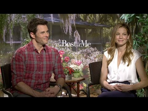 James Marsden & Michelle Monaghan - The Best of Me Interview HD