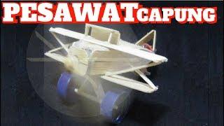 Membuat Pesawat Capung Dari Stik Es Krim Dan Dinamo Bekas Tamiya