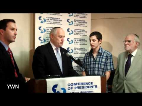 GILAD SHALIT AT CONFERENCE OF PRESIDENTS IN NYC