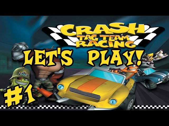 Let's Play: Crash Tag Team Racing: Part 1: Raiden And Nathan Drake! (100%)