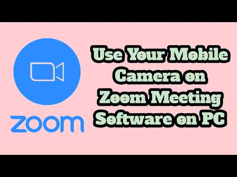 #ZoomMeeting #Droidcam How to use Your mobile Camera on Zoom Meeting Software on PC