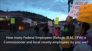 Protesters Jan 26 2016, John Day Oregon