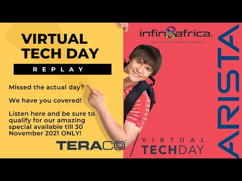 Tech Day hosted by Teraco, featuring the network solutions by Arista brought to you by Infin8Africa