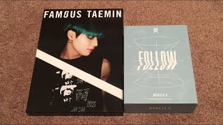 MONSTA X FOLLOW FIND YOU Kihno Kit amp TAEMIN FAMOUS 3rd Japanese Mini Album Unboxing K-Pop Haul 83
