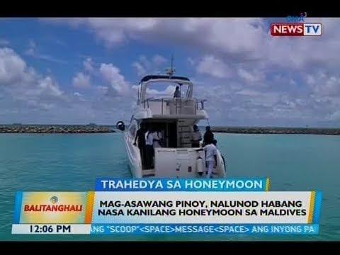 BT: Mag-asawang Pinoy, nalunod habang nasa kanilang honeymoon sa Maldives