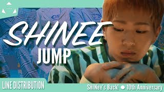 Shinee 샤이니 • Jump  Line Distribution #shinee'sback