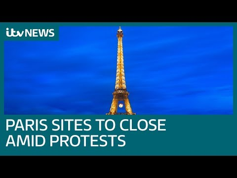 Eiffel Tower among tourist sites to close in Paris amid protests | ITV News