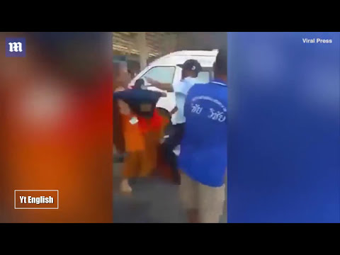 Buddhist monk slapped the minicab drivers face