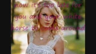 Official karaoke White Horse Taylor Swift