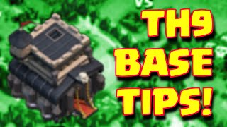 Clash Of Clans Townhall 9 Best Base Build Tips And Tricks | TH9 Farming And Trophy Base Layouts