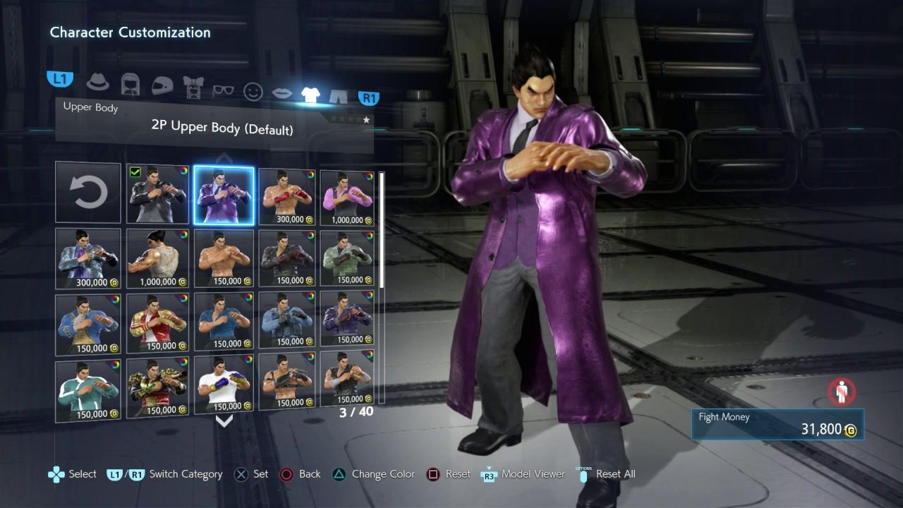 Tekken 7 Ps4 Kazuya Full Character Customization 1080p 60fps
