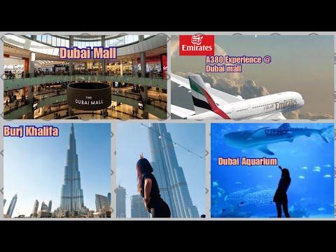 Dubai Mall Tour | Dubai Aquarium | Experience Emirates A380 | Burj Khalifa Tower| Neneng Bee Boom