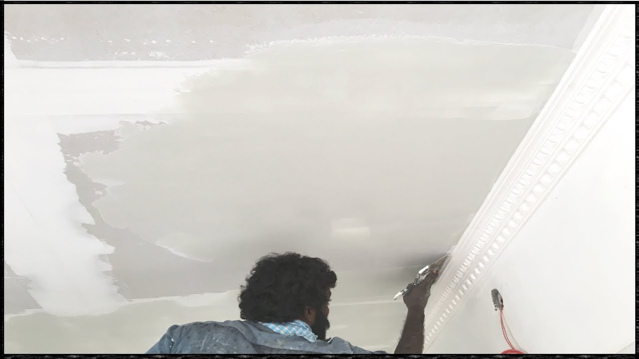 How To Apply Putty On Ceiling Step By Step Wall Putty Application Step By Step Instruction Youtube
