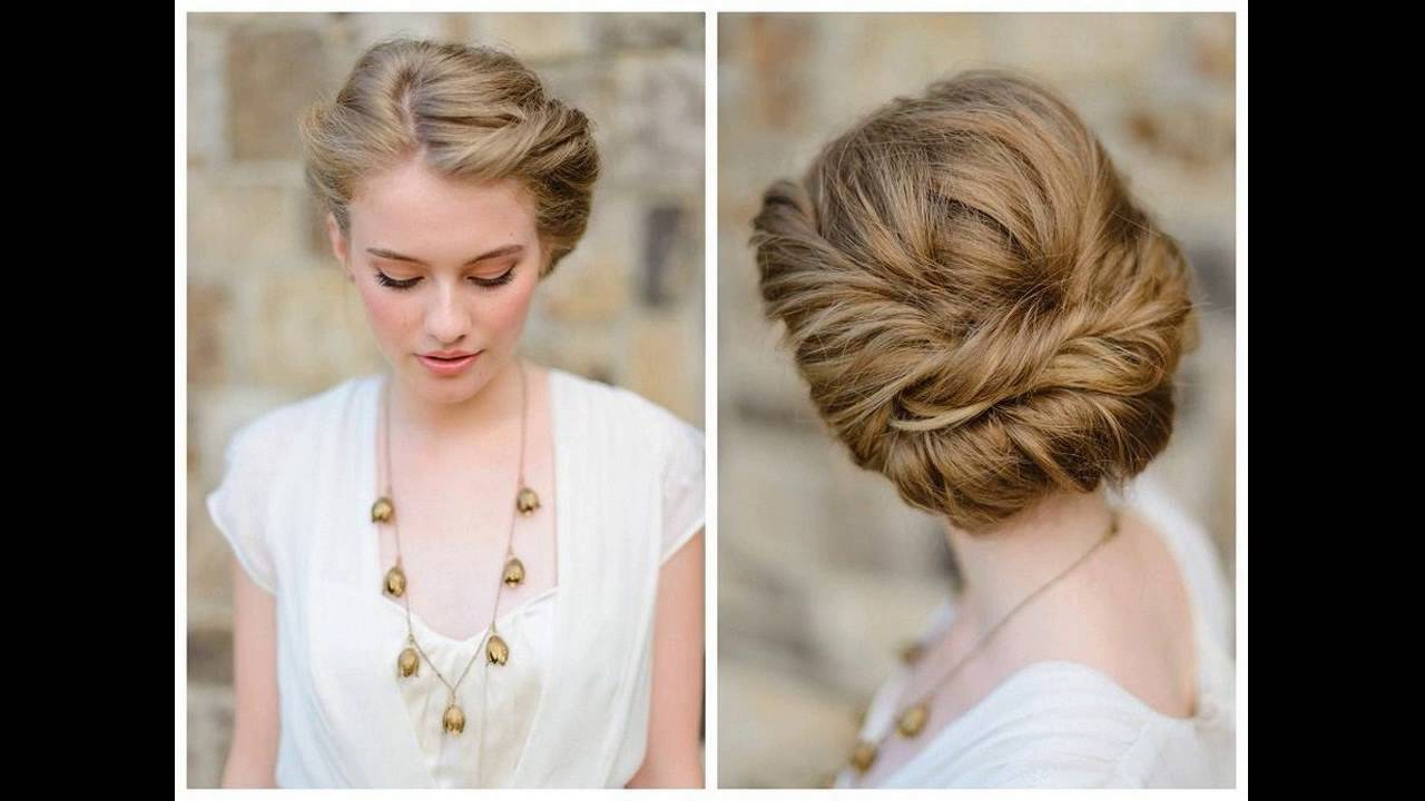 A Romantic Formal Updo Hairstyle For Medium Hair How To Make At Home