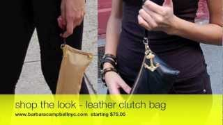Try Our Clutch-Handbags-Made in Brooklyn NYC 11216 - Barbara Campbell Accessories Factory Studio Thumbnail