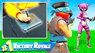 I WIN Using a DRAWING Tablet to Aim in Fortnite! (Challenge)