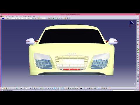 Tutorial On Modeling Audi R8 In Catia V5 ( Part 01)