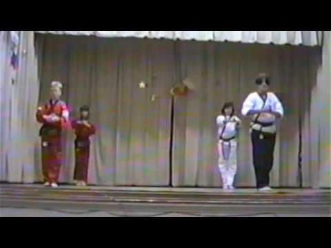 Greenhill Elementary School PTO Demo 1995 Ray Rice Karate Kids & Adult Kata