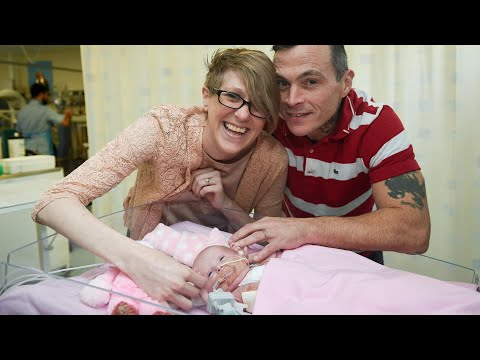 Download Youtube: Baby survives after being born with heart outside her body