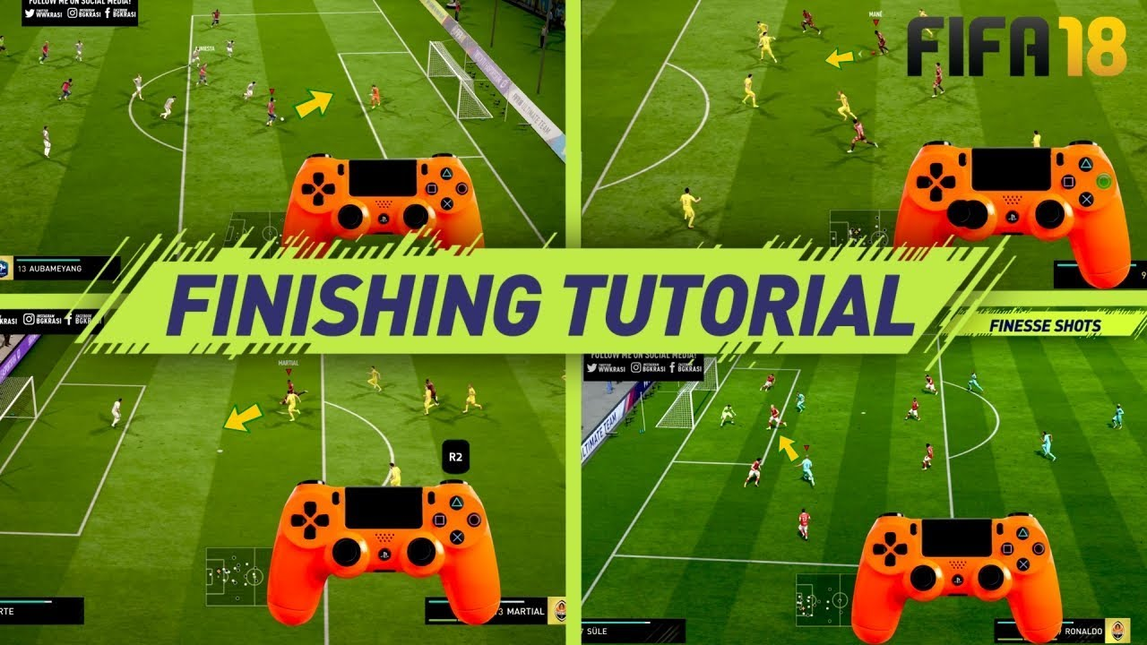 FIFA 18 FINISHING TUTORIAL - SECRET SHOOTING TIPS & TRICKS - HOW TO SCORE  GOALS (H2H & FUT)