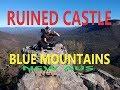 RUINED CASTLE BLUE MOUNTAINS NSW Australia (DJI Spark Footage)