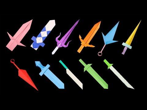 11 Easy Origami Paper Sword/Knife Ninja