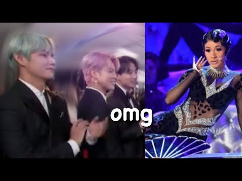 BTS amazed @ Cardi B's performance at the GRAMMYS *reaction*
