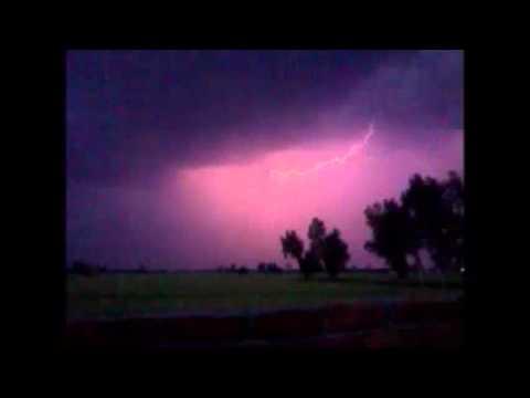 Red Lightning Bolt strike in Slow Motion
