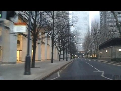 Driving in London - Old Street to Canary Wharf