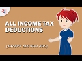 How to Save Tax using all Income Tax Deductions except Section 80C   Tax Saving Tips by Yadnya